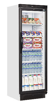 Sc381 Single Glass Door Upright Drink Display Cooler Fridge Bottle Can Chiller