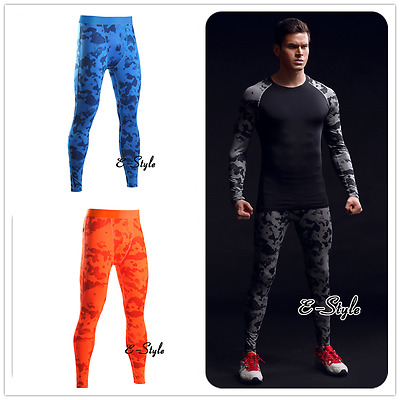 Athletic Workout Stretch Pants Fitness Mens Gym Running Sports Costume Leggings