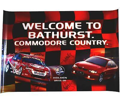 Signed Poster Welcome to Bathurst Commodore Country Holden