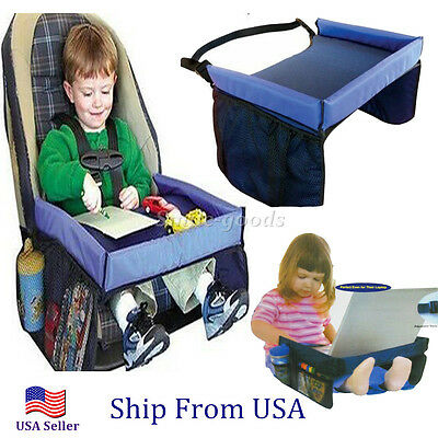 Hot Car Safety Belt Travel Play Tray waterproof Table Baby Car Seat Cover US