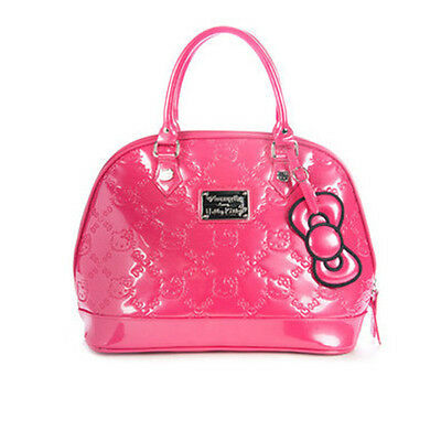 New Hello Kitty Loungefly Purse Pink Tote Embossed Shoulder Rare