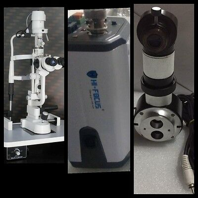 Slit Lamp Haag Streit 5 Step, Beam Splitter,C Mount & Camera Set FEDEX SHIPPING