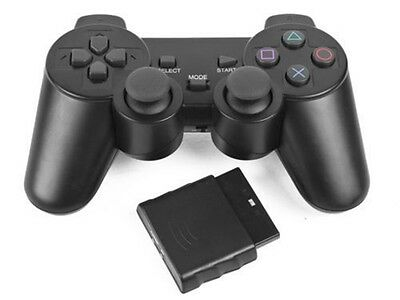 Mando Controlador Inalámbrico Negro Dual Shock Gamepad Para Ps2 Playstation 2