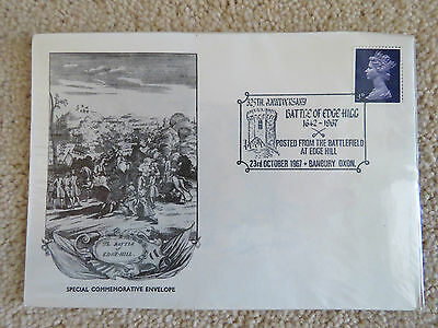 Vintage 1967 Commemorative Cover - Battle of Edgehill 325th. Banbury cancel