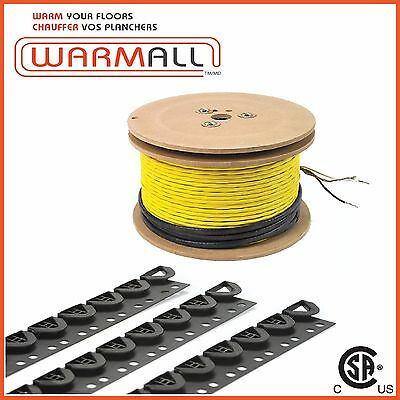 240V 56 Sq/Ft - Electrical Radiant Warming Floor Heating Cable System