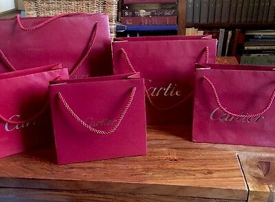 Authentic Cartier Packaging Bags 5x