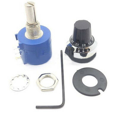 New 10K Ohm 10 Turn Adjustable Potentiometer with Counting Dial Rotary Knob