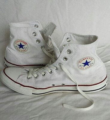 Converse All Star Size UK 10 White.