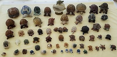 59 Tortoises & Turtles. China, Brass etc. Ornaments Collectable
