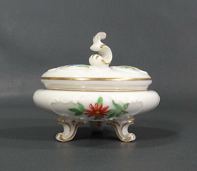 Art Deco German Hutschenreuther Painted Porcelain Jewelry Trinket Box Powder Jar