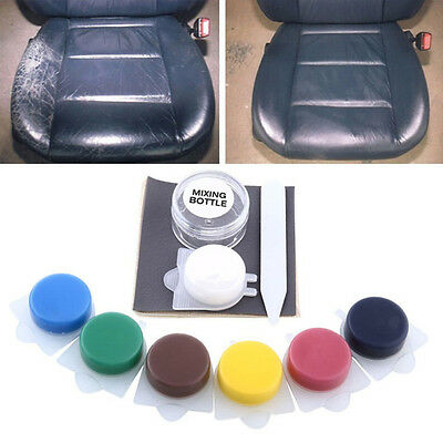 Strong Car Seat Sofa Leather Hole Rips Burns No Heat Liquid Vinyl Repair Kit UK
