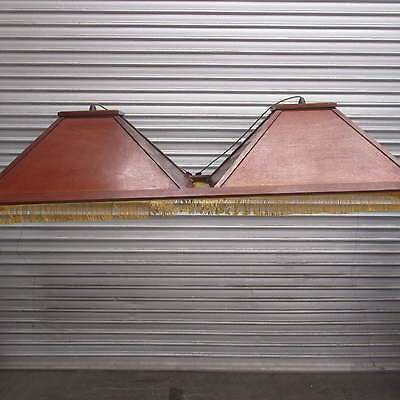 LIGHT FOR BILLIARD TABLE / POOL TABLE, TIMBER WITH GOLD TRIM, 26k