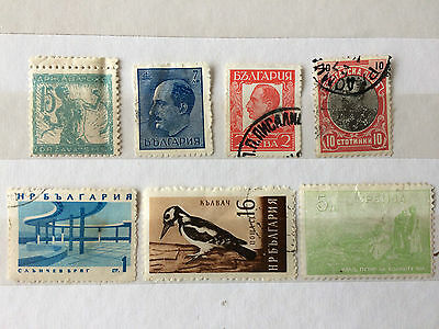 BULGARIA mixed group of 7 stamps from old album.