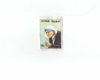 Timbre.syrie. Death Of Mother Teresa Theresa 1St Anniversary 1998