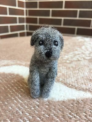 OOAK Handmade Felted Little Dog Wool Doll (Stuffed Animals)