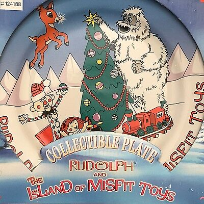 """Cvs Rudolph Bumble And Misfit Toys Cookie Plate 8"""" New In Box 1999"""