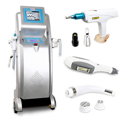 3-1 E Light IPL NQ Switch Yag Laser Hair Tattoo Removal Black Doll Laser Machine