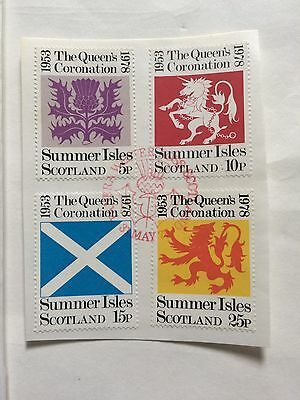 4 Summer Island Stamps On Card