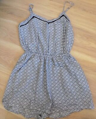 H&M - Ladies Black and White Playsuit - Size 10