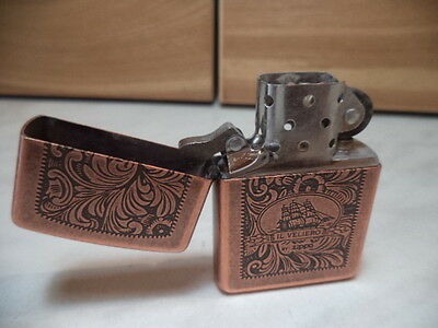Zippo Lighter Feuerzeug  Veneziano Antique  Copper Il Veliero Nuovo Very Rare