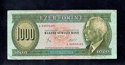 HUNGARY  1,000 Forint Banknote - 1983