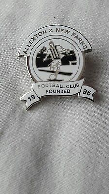 Allexton & new parks fc pin badge