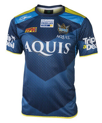 Gold Coast Titans NRL 2017 Players Classic Navy Training T Shirt Sizes S-5XL!