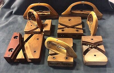 Vintage Hardware Wood Shuttle & Block Ribbon Weaving Riehl &Son 10 Pieces