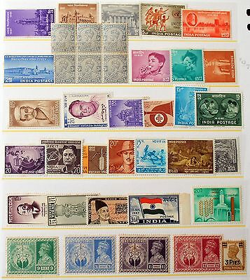 India - Selection of Unmounted Mint and LMM Stamps (R2)