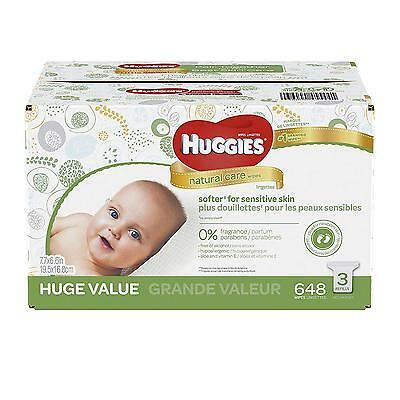 HUGGIES Natural Care Baby Wipes, Refill Pack 648 Sheets Total , Fragrance...
