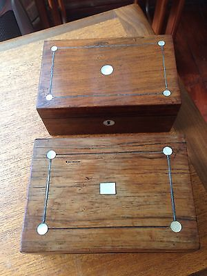A Pair Of Victorian Small Inlaid Wooden Box's Restoration Project
