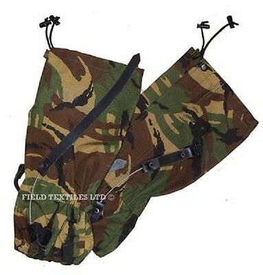 British Army - Dpm Camouflage Gaitors - Size Long - Grade 1 Used
