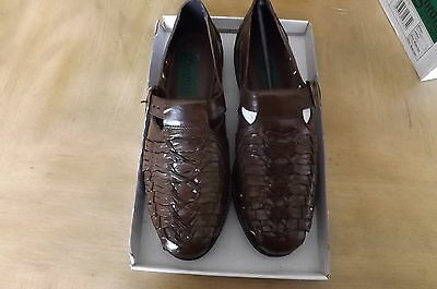 Mens Leather Shoes Size 10 Colour Brown