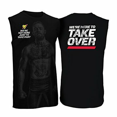 BSN Conor McGregor Tank Top UFC MMA Vest Mixed Martial Arts Training Top - Black