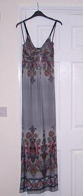 BNWT, size S/M, long, grey & paisley design ladies dress