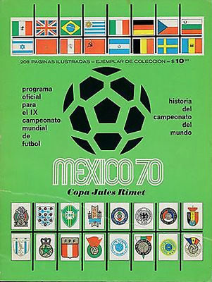 MEGA RARE 1970 World Cup official programme: GREEN edition: Mexico 70