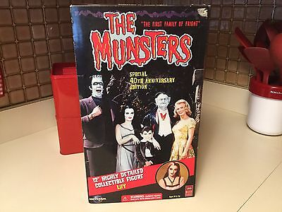 """The Munsters TV Show Lily 40th Anniversary 12"""" Figure Complete in Box"""
