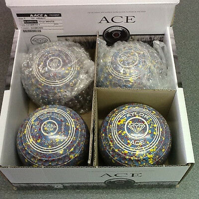 NEW Set of 4 Thomas Taylor Ace Bowls - Blue/Red/Yellow - Size 1 - WB26 - Diamond