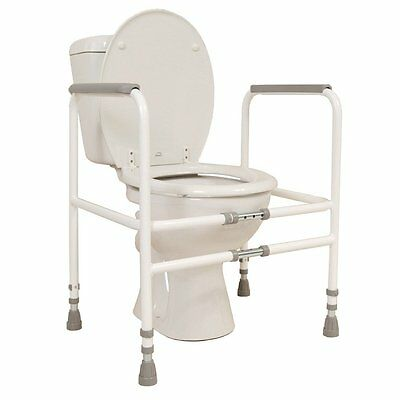 NRS Healthcare M00870 Free Standing Toilet Frame - Width & Height Adjustable for