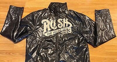 2010 Rush 3 Time Machine Tour Concert Jacket Coat Windbreaker Large L