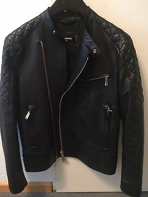 Dsquared Lederjacke Leather Jacket Guibbino Gr.50 Neu