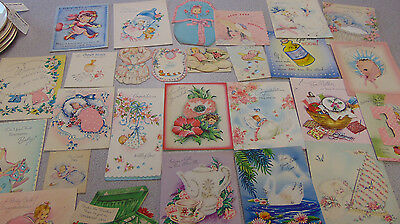Greeting Card Lot Baby Get Well All Mid Century 25+ PC