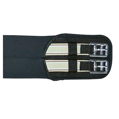 HKM Neoprene Breathable & Elasticated Black Padded GP/Dressage/All Purpose Girth