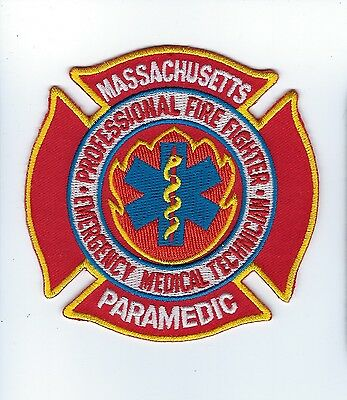 State of Massachusetts MA Professional Fire Fighter EMT Paramedic patch - NEW!