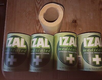Izal Medicated Strong Toilet Paper Vintage x 4