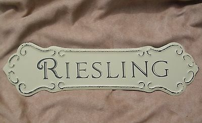 WINE SIGN RIESLING Metal Vintage Style Winery Cellar Bar Pub Kitchen Wall Decor
