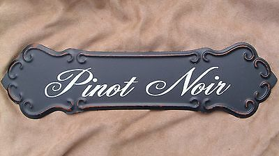 WINE SIGN PINOT NOIR Metal Vintage Style Winery Cellar Bar Pub Kitchen Decor NEW