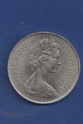 1971 GREAT BRITAIN LARGE 10 NEW PENCE Uncirculated. KM#912