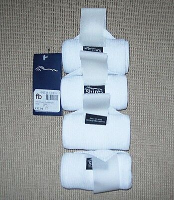 Shires Set Of 4 Dressage Leg Bandages In Zip Case New