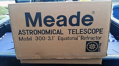 NEW IN BOX Meade Astronomical Telescope  Model 300 : 3.1 Equatorial Refractor
